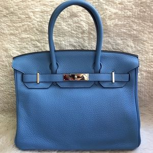066df14655 ... Like New Authentic Hermes Birkin 30 Blue Paradise ...